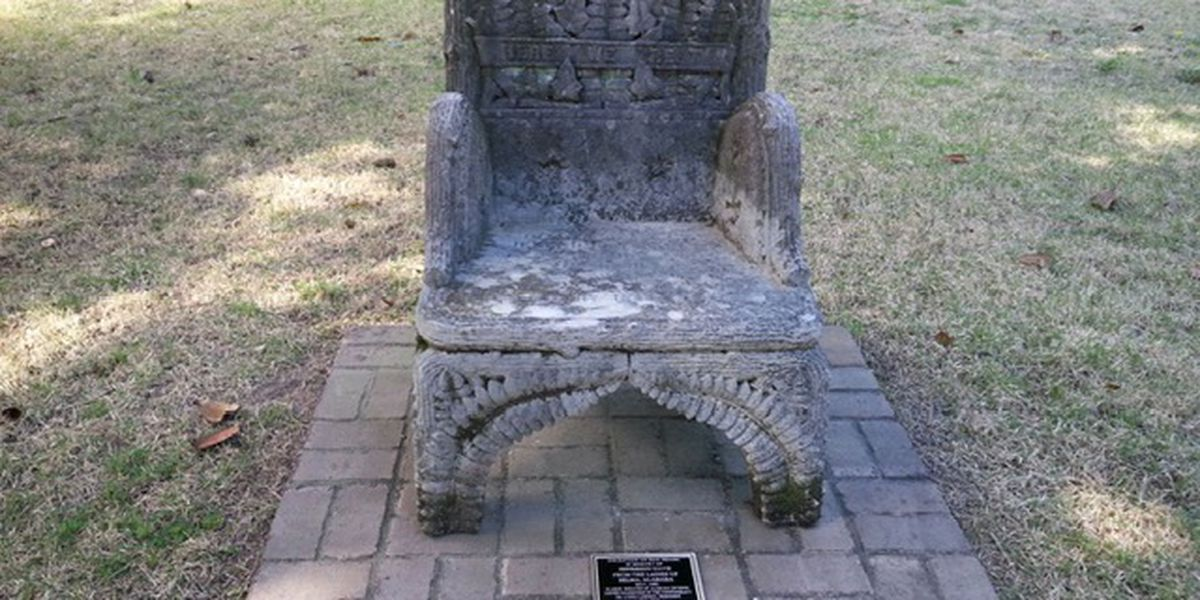 Stolen cemetery relic honoring Jefferson Davis found 300 miles from Selma, 2 arrested