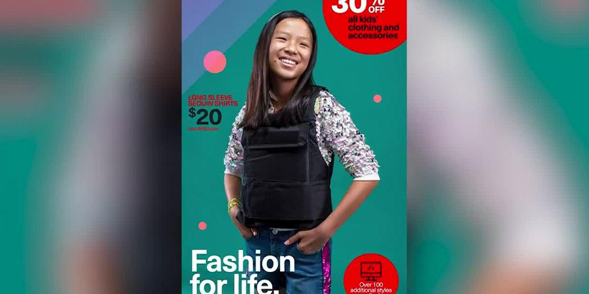 Fake back-to-school ads show kids in bulletproof vests