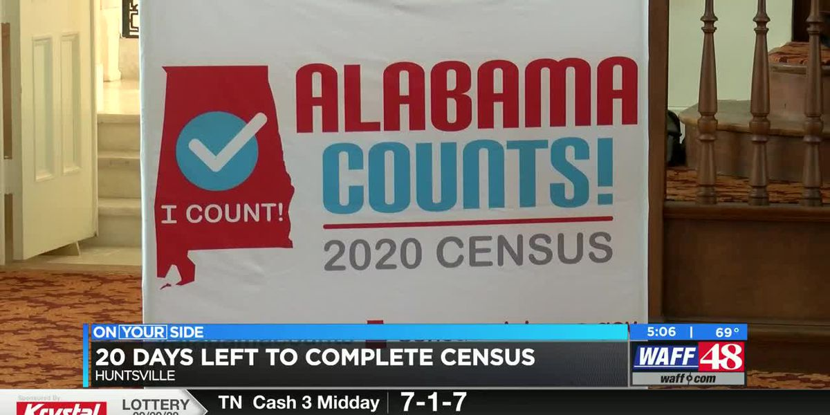 Alabamians have 20 days left to complete 2020 Census