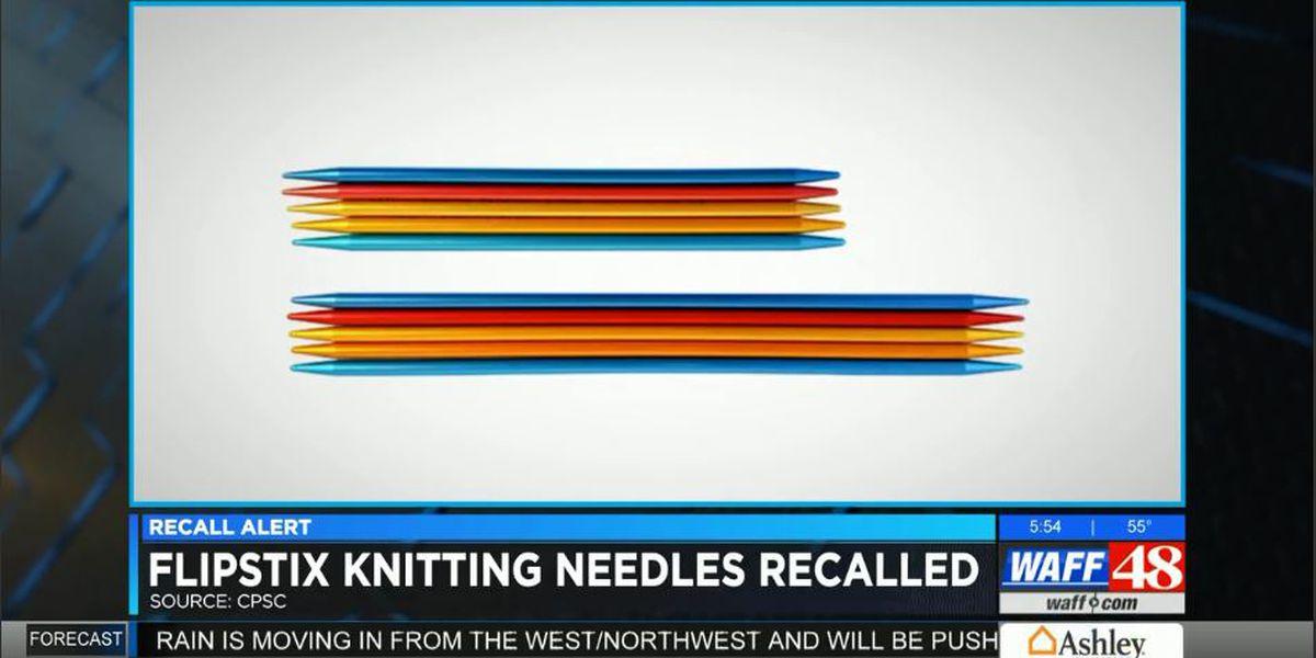 FlipStix knitting needles recalled due to laceration hazard