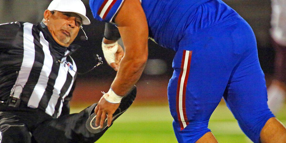 Texas prep football player attacks referee