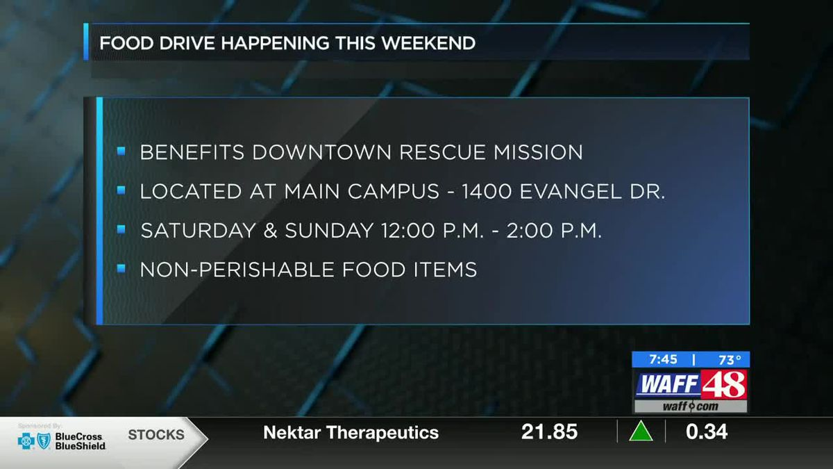 Food drive to benefit Downtown Rescue Mission happening this weekend