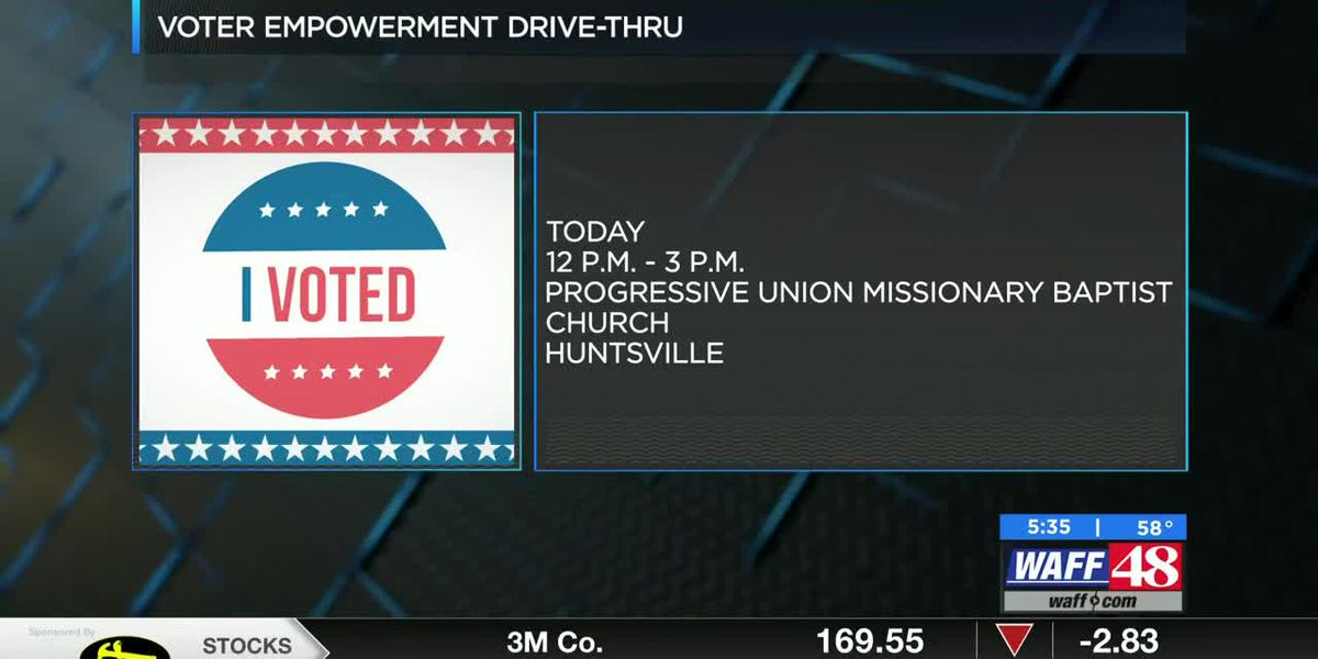 Local Huntsville church holds drive up voter registration