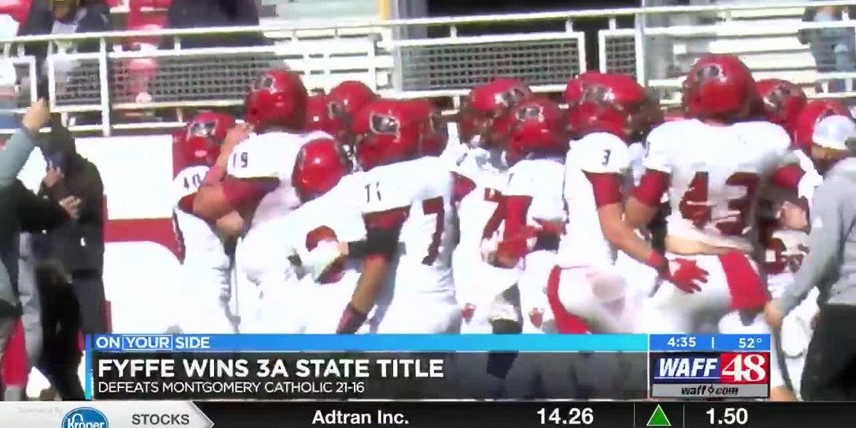 Fyffe wins 3A State title