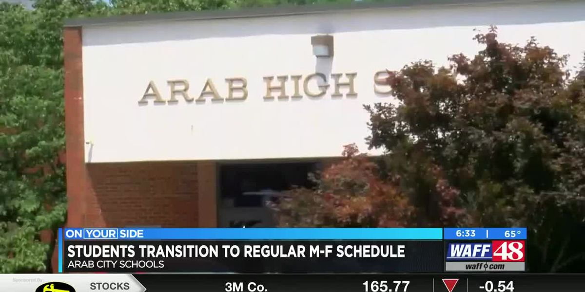 Arab City elementary students transition to regular Monday through Friday schedule