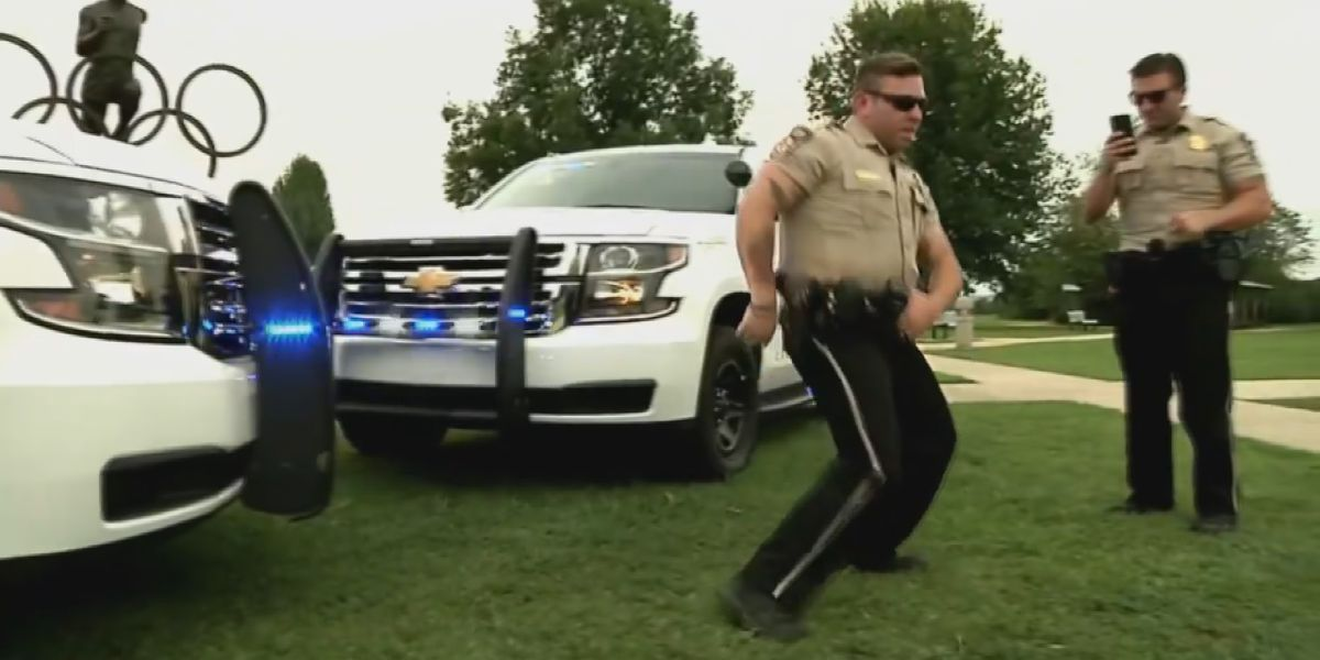 WATCH: Lawrence County deputy gets down for 'Git Up Challenge'