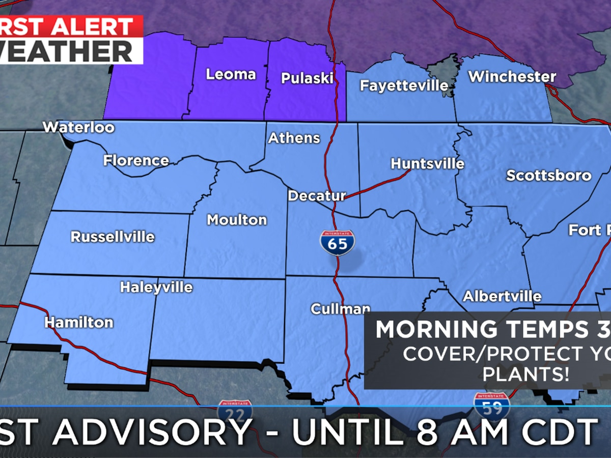 FIRST ALERT: Frost this morning, cooler temps all week