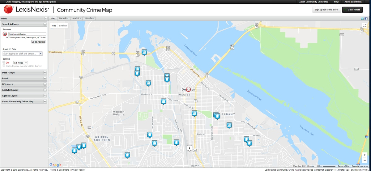 Decatur crime mapping software now available to the public