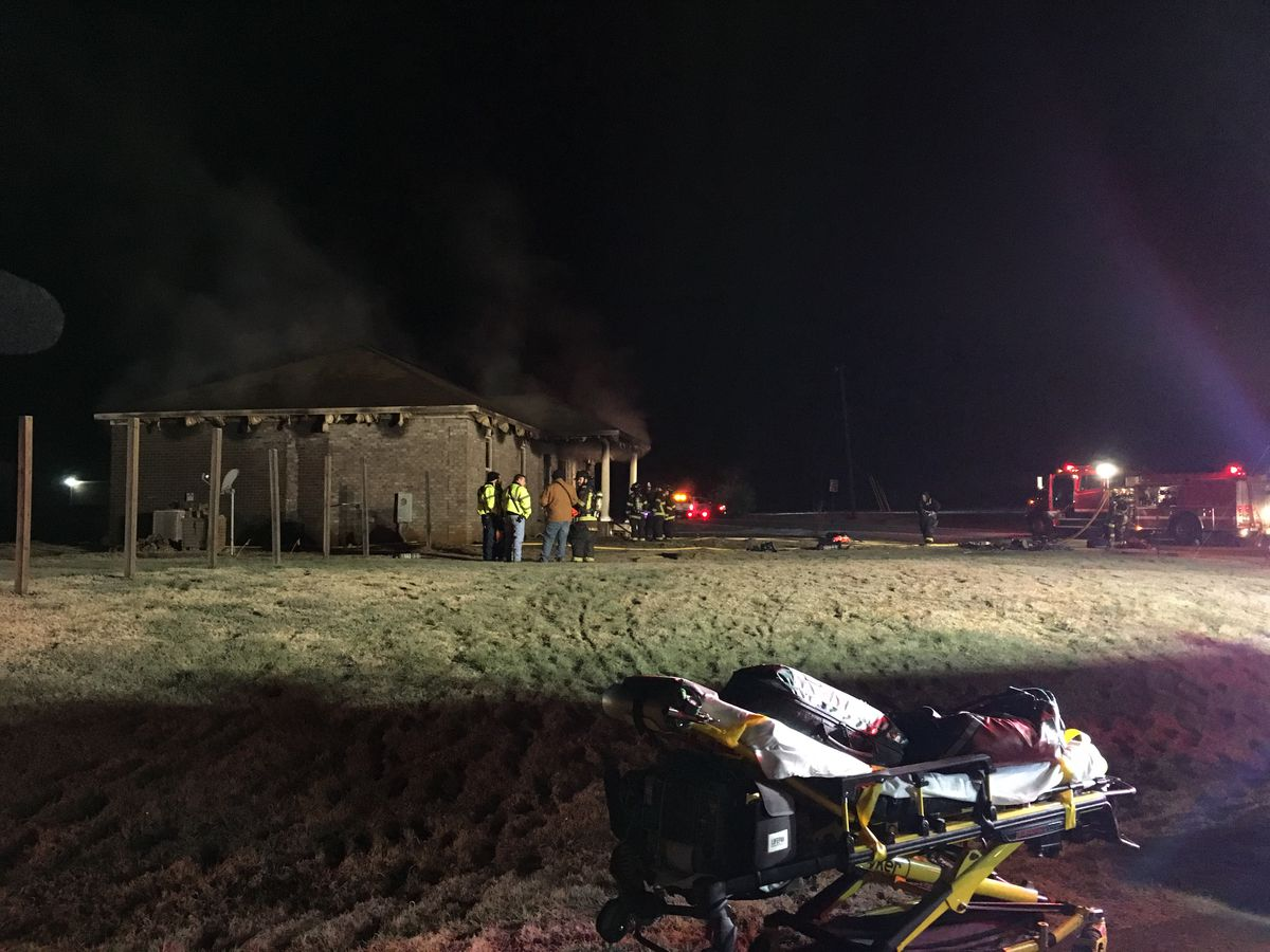 Early morning fire destroys Harvest home