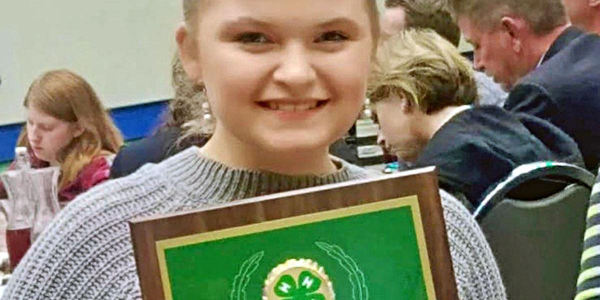 Local student wins national 4-H title