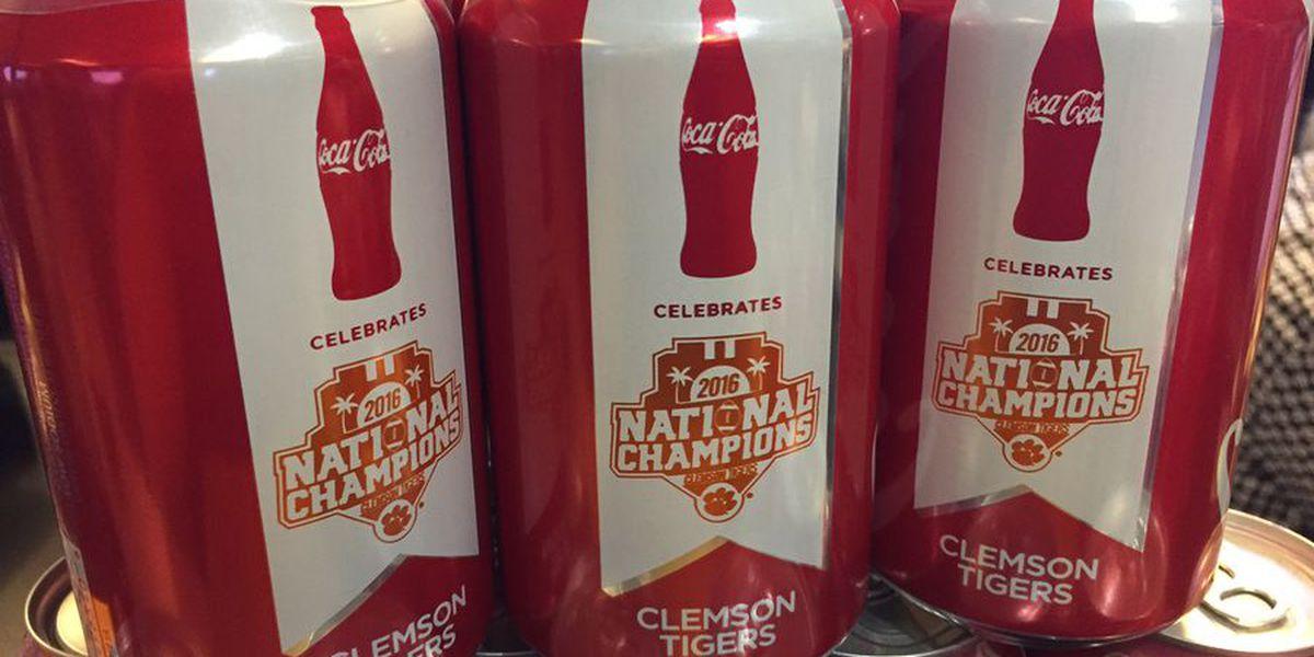 Coca-Cola unveils commemorative Clemson championship cans