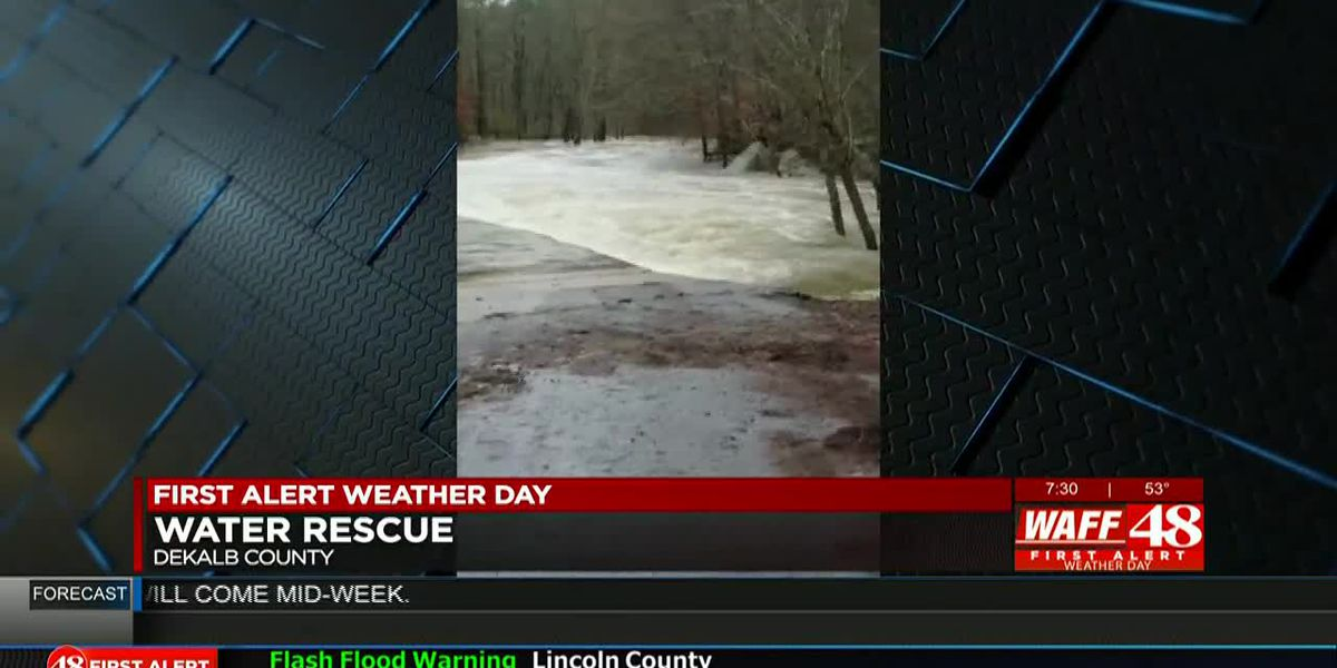 Water rescue in DeKalb County