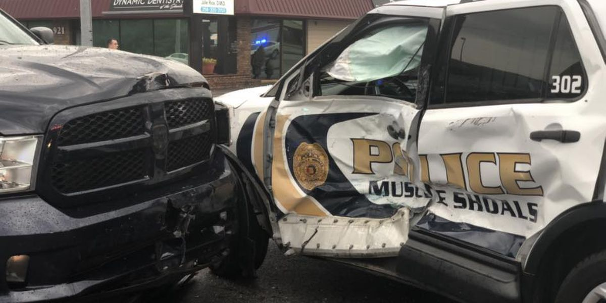 Muscle Shoals police officer injured by suspected impaired driver