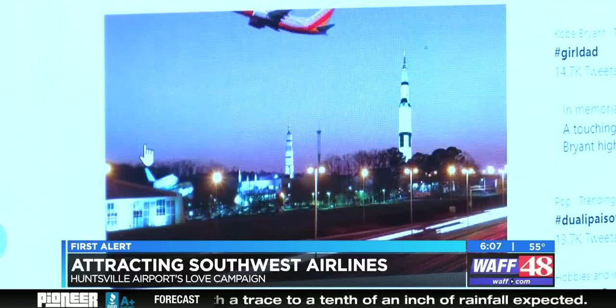 Huntsville International Airport courting Southwest Airlines