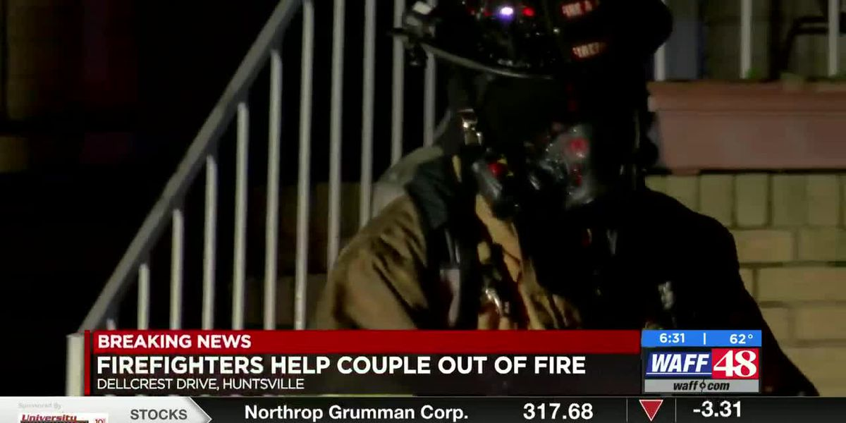 Firefighters help woman out of Huntsville house fire Sunday morning