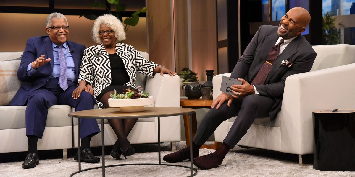 Senior Madison couple in viral engagement photo appear on Steve Harvey show