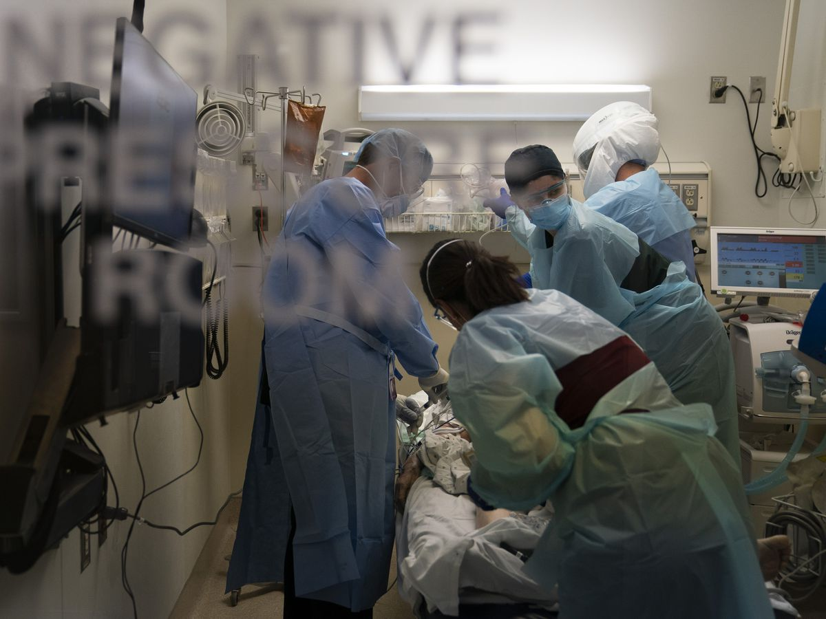 'Very dark couple of weeks': Morgues and hospitals overflow
