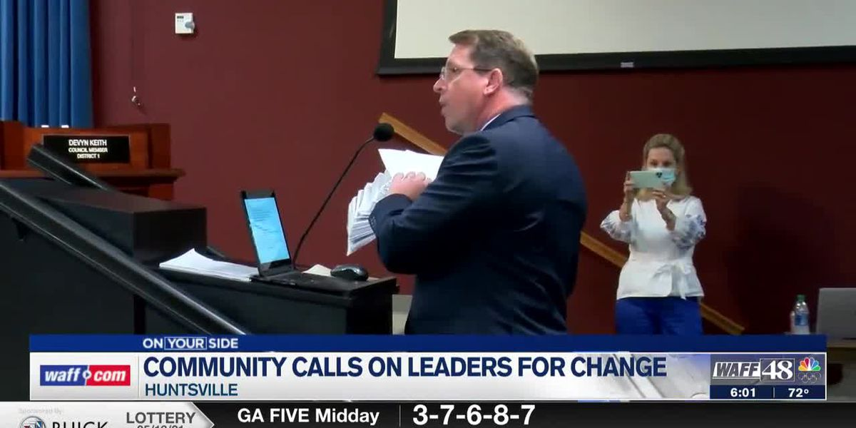 The community is calling on Huntsville leaders for change following a murder conviction