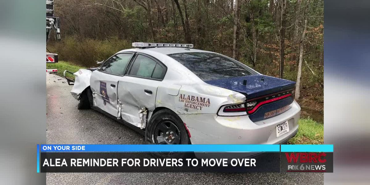 State trooper lucky to be alive in Opelika; ALEA reminds drives to move over