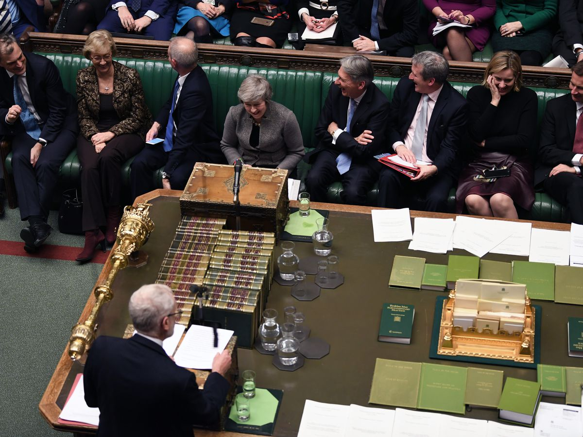 The Latest: Corbyn submits symbolic no-confidence motion