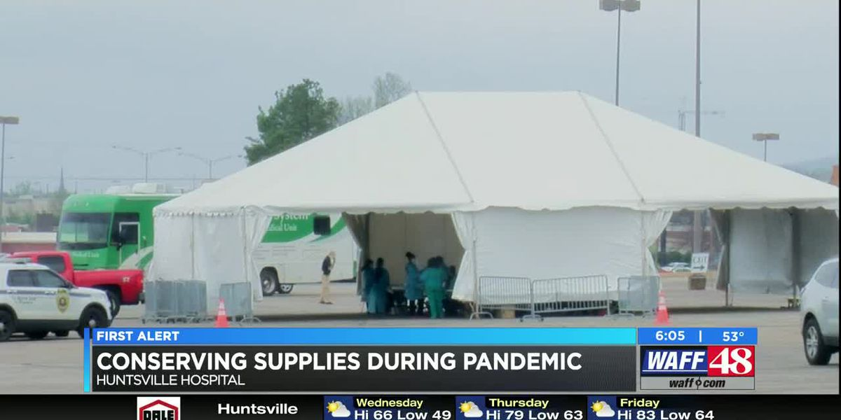 Huntsville Hospital working to conserve PPE and COVID-19 tests