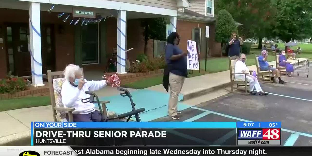 Drive-thru parade held at Huntsville assisted living facility