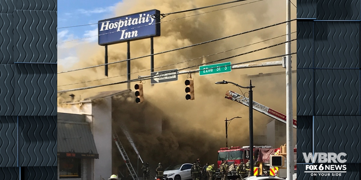 UPDATE: Fire at vacant Hospitality Inn intentionally set, according to Birmingham Fire
