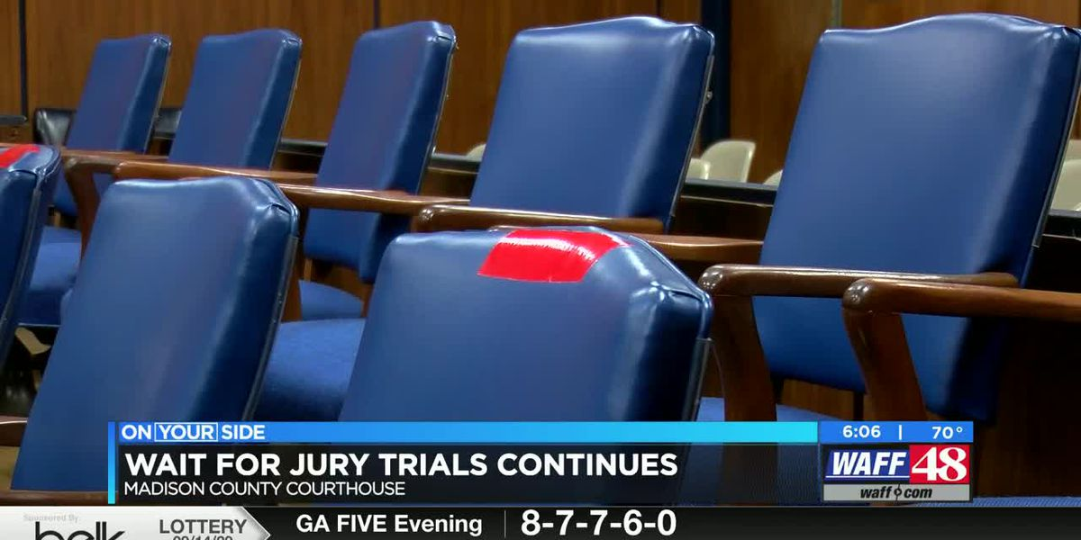 Jury trials in most North Alabama counties still weeks away
