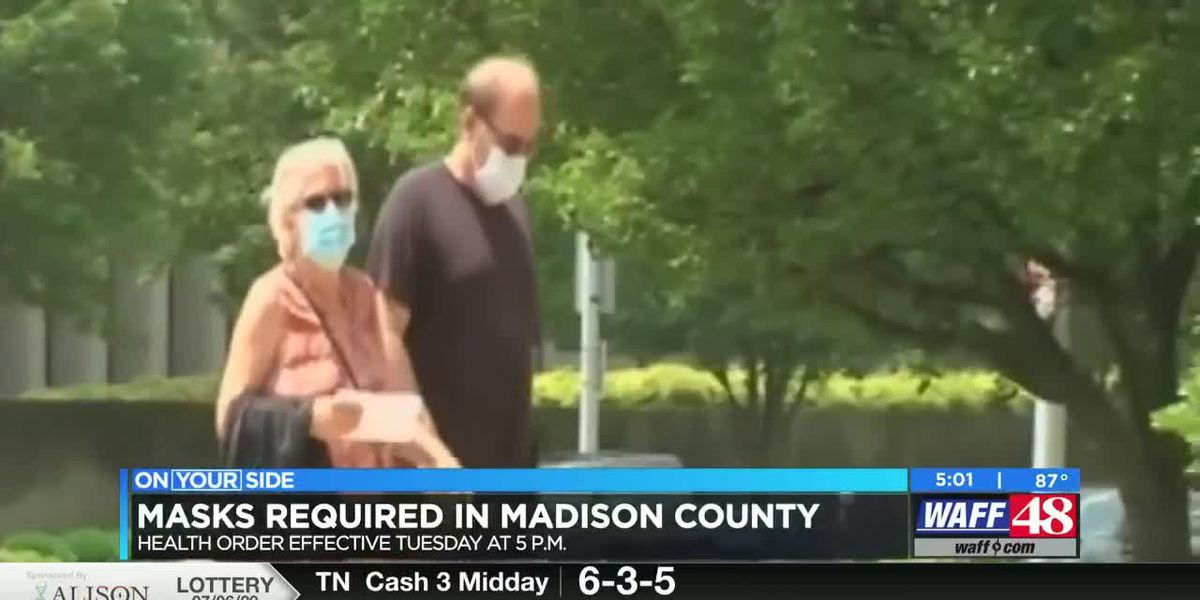Face coverings now required in Madison County