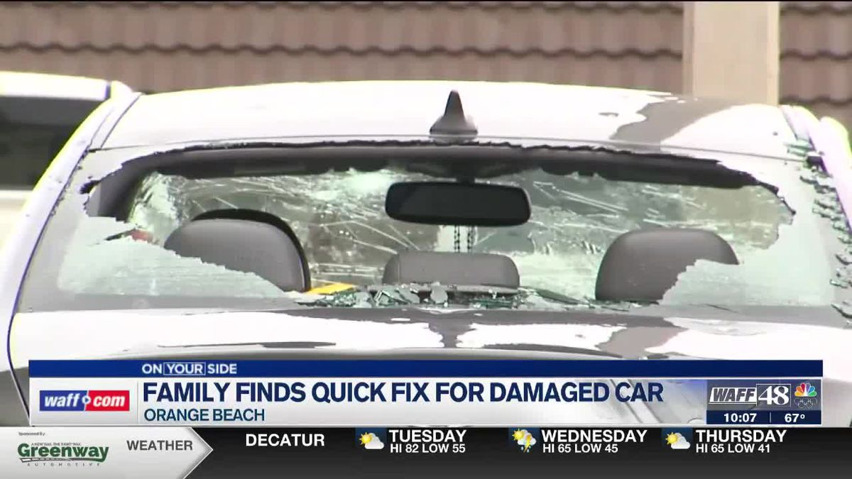 Madison County family gets creative after hail storm damages car
