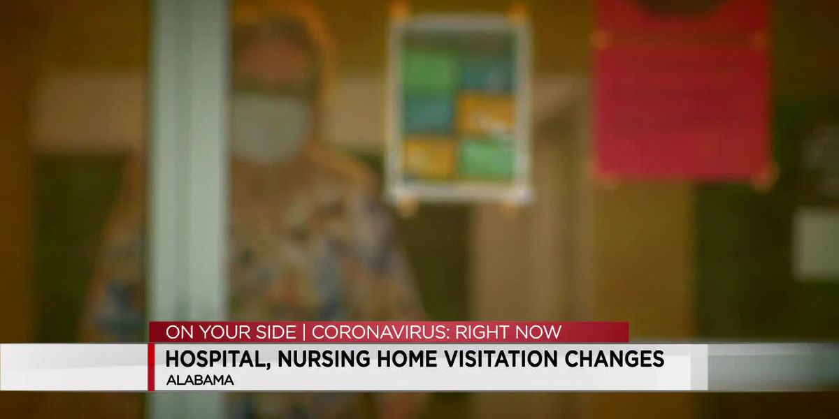 Alabama will allow nursing home visits, but not hugging or close contact yet