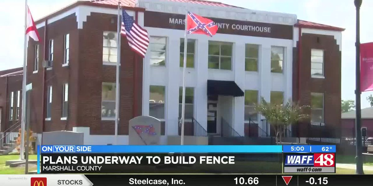 New fence going around Confederate monument at Albertville Courthouse