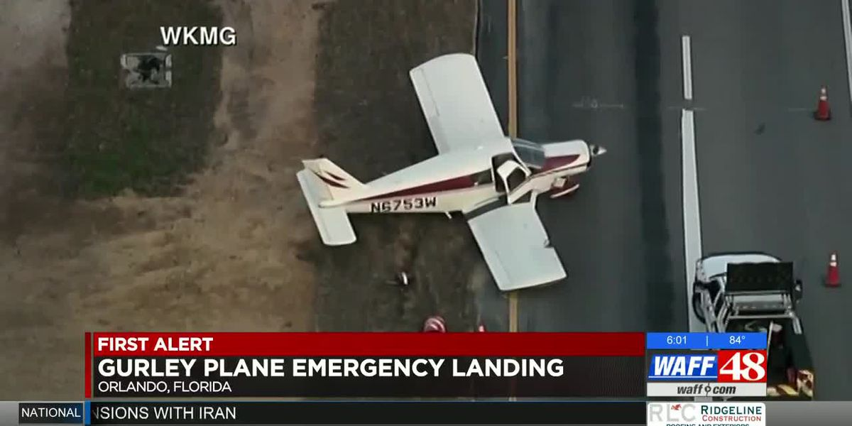 Plane registered in Madison County lands on Florida interstate