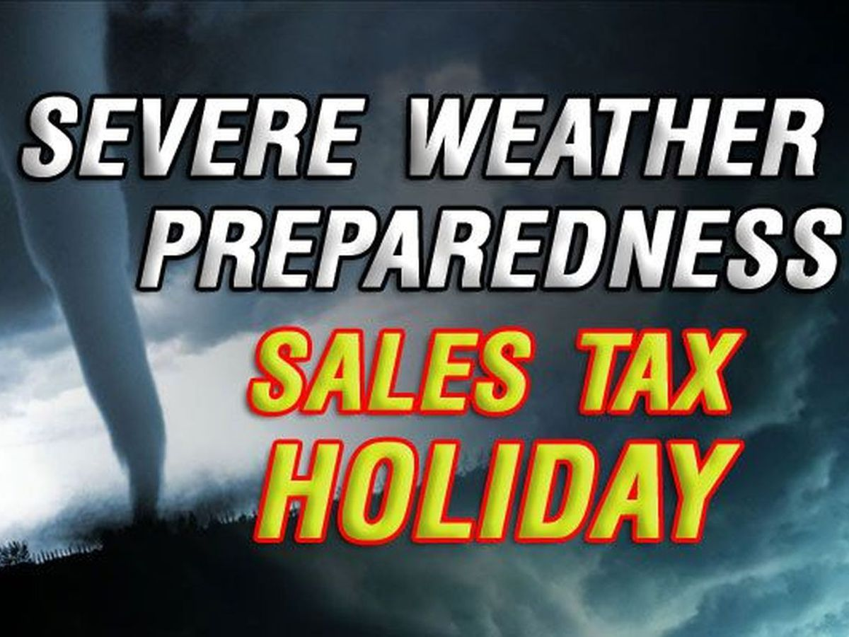 Severe weather preparedness sales tax holiday happening this weekend
