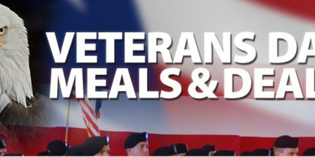 2017 Veterans Day free meals and discounts