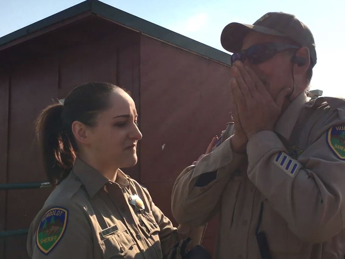Watch: Colorblind deputy sees colors for the first time