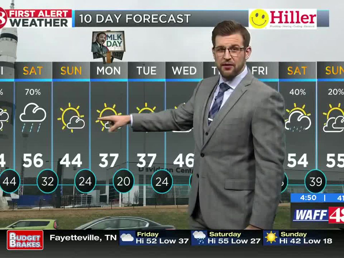 Cold front creeping towards Tennessee Valley