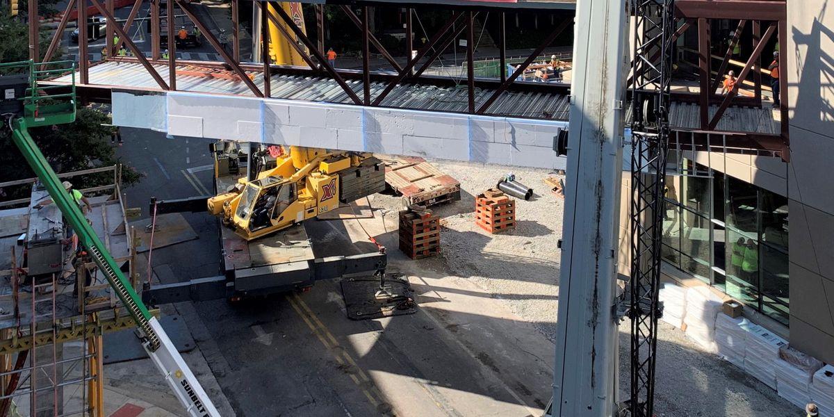 Pedestrian bridge connects new facility to Huntsville Hospital