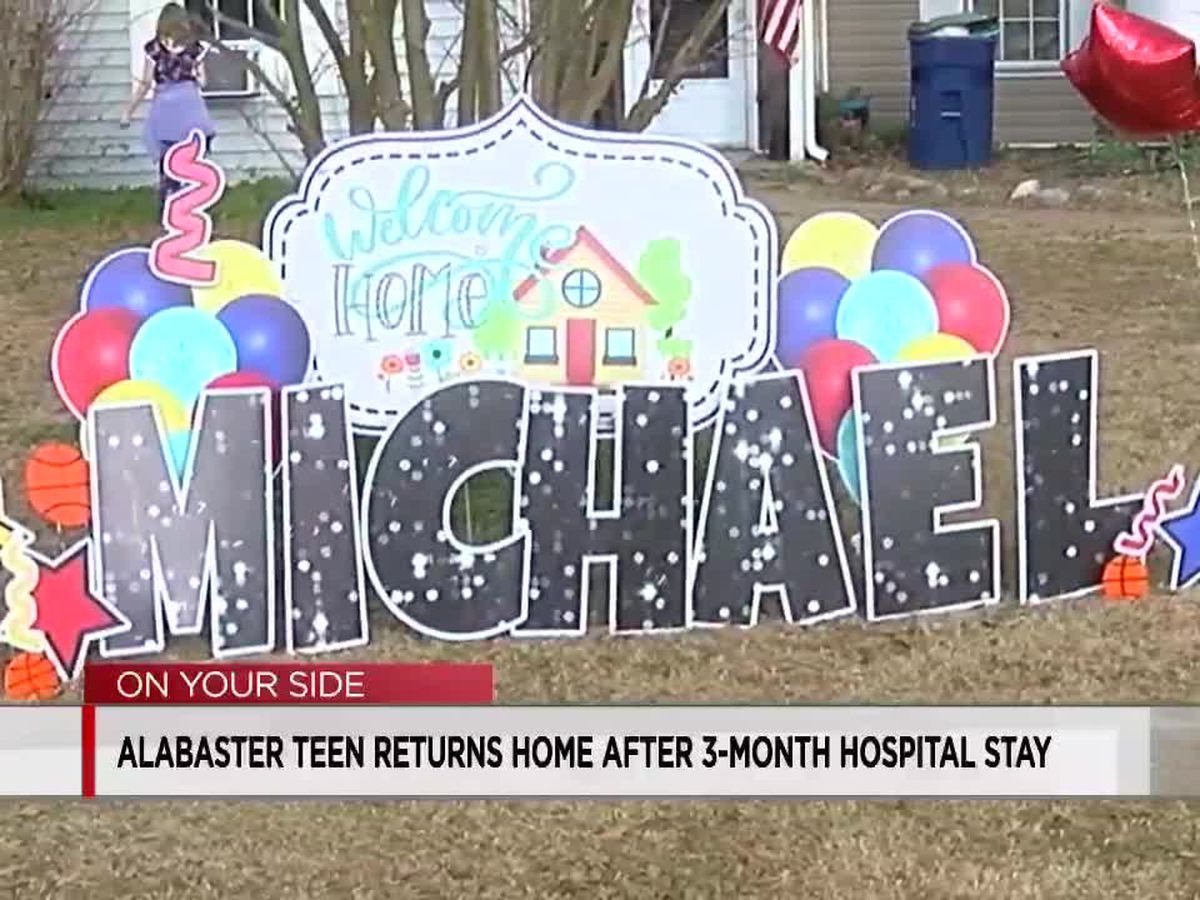Alabaster teen surprised by friends after brain trauma hospitalizes him for months