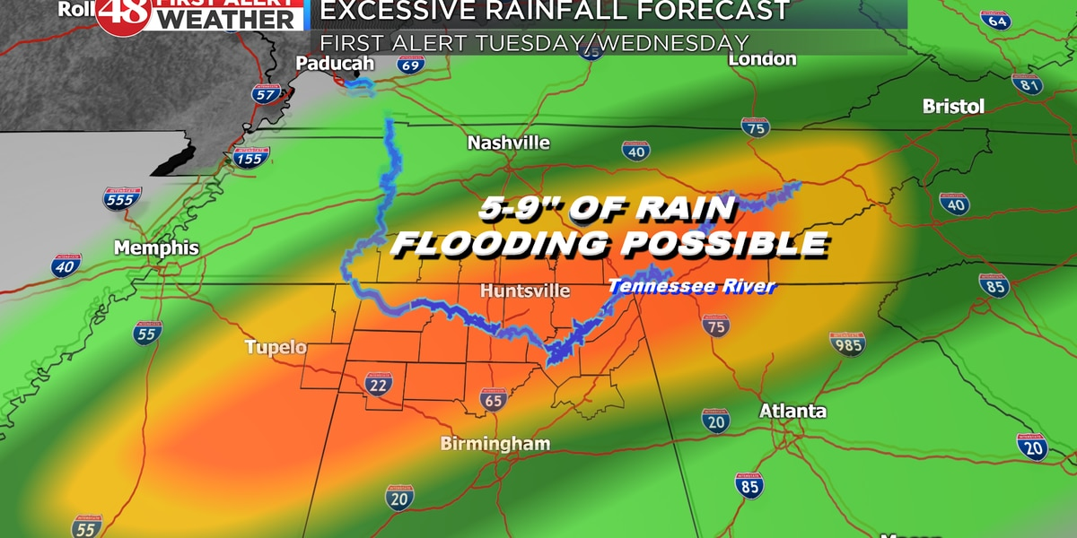 Wet pattern moving in with potential flooding next week