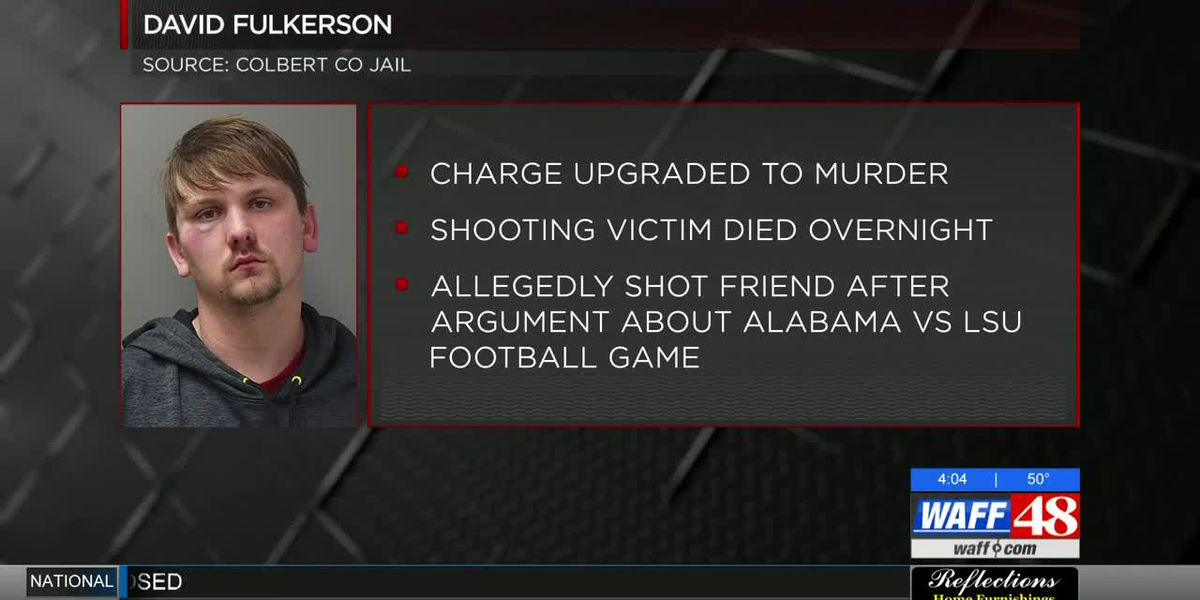Charge upgraded to murder in Colbert County shooting over Alabama-LSU game
