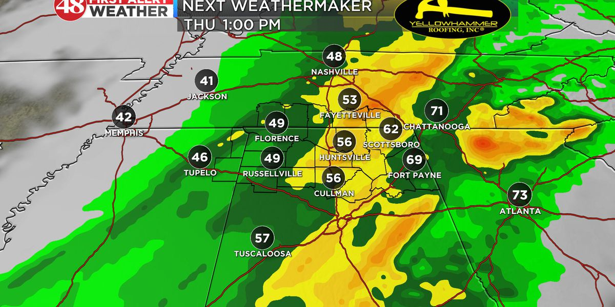 Rain Wednesday, thunderstorms and chilly temps on Halloween