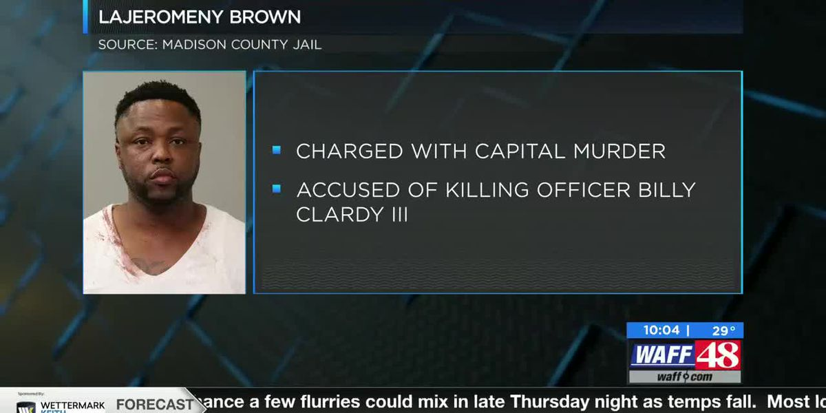 Madison County man accused of killing a police officer in court