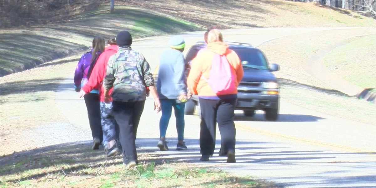 Community, families participate in New Year's Day hike at Joe Wheeler State Park