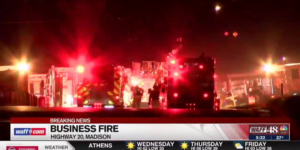 WAFF's 5:30 a.m. update on a Madison business fire