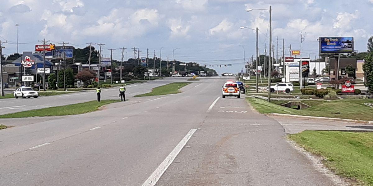Potential hazmat situation on Madison Boulevard