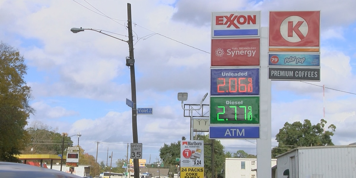 AL well below national average for gallon of gas as prices drop