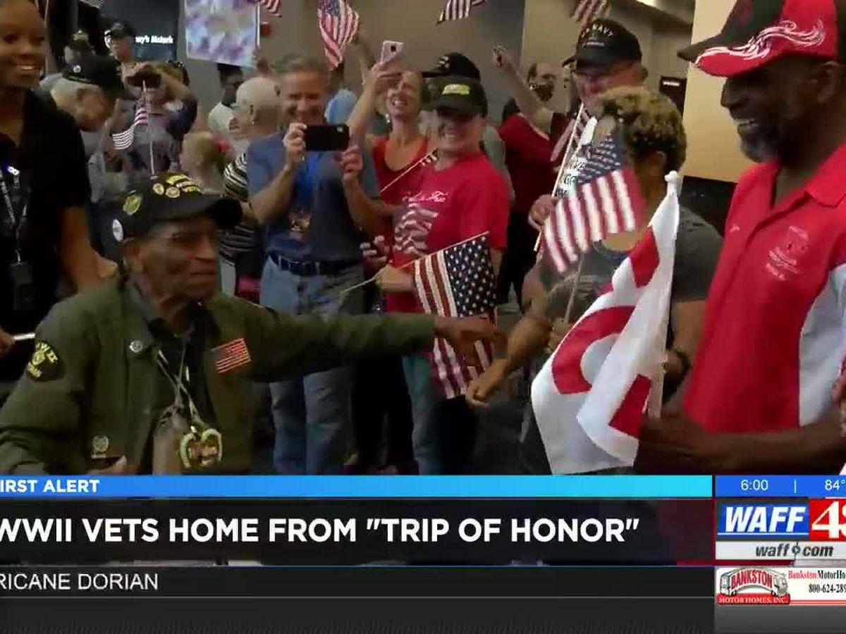 World War II vets return home from Europe