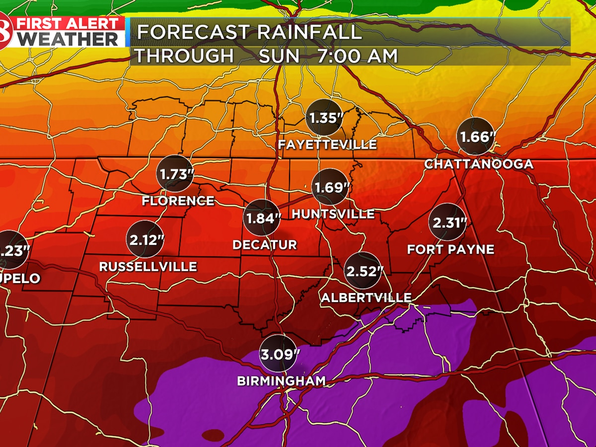 Widespread rain chances this weekend