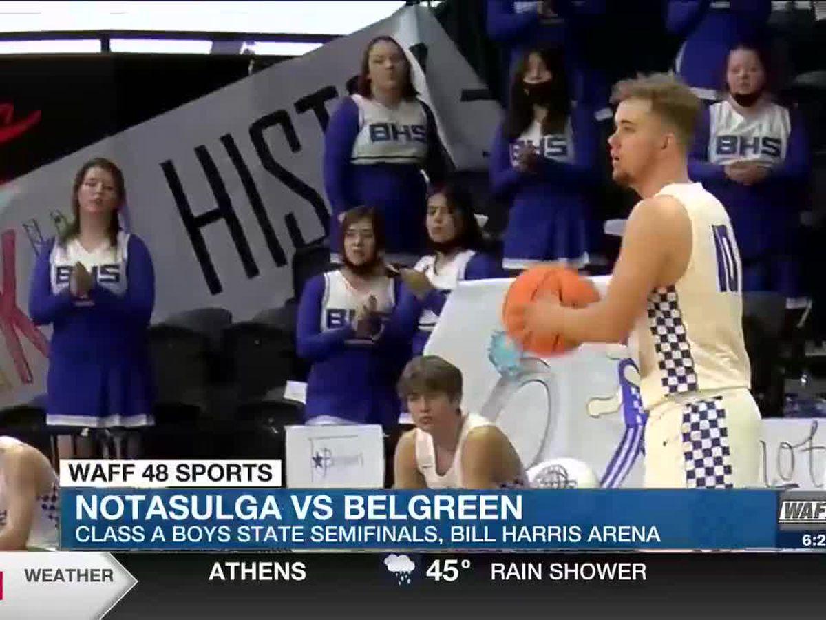 Class 1A Boys' Semifinals - Belgreen advances to the championship